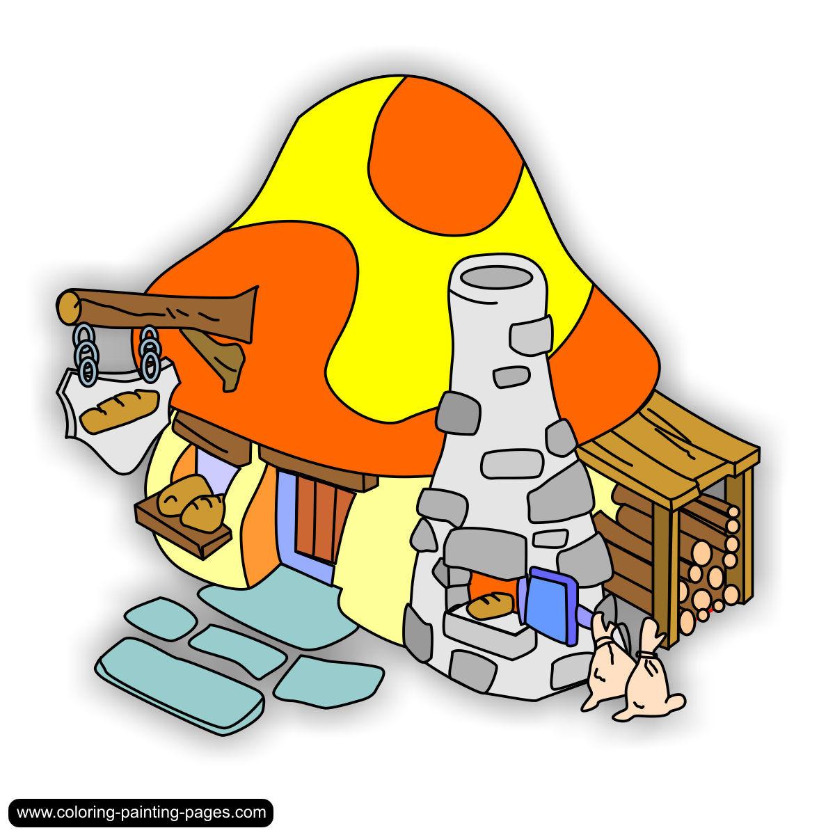 Smurf Village Clip Art