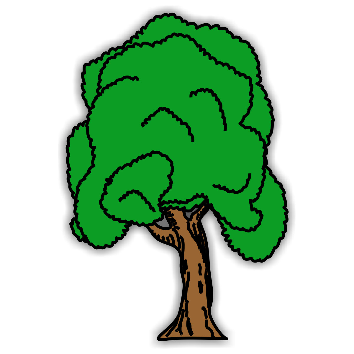 Coloring pages trees and leaves- free downloads